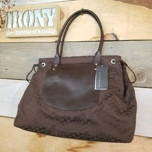 Kenneth Cole Large Brown Tote Purse Bag NWT